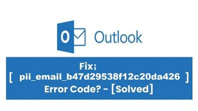 Fixed [pii_email_b47d29538f12c20da426] Error Code - Updated