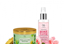 Rose Water And Aloe Vera Gel