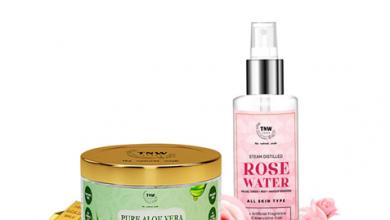 Rose Water And Aloe Vera Gel